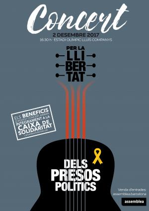 L'ANC presenta el concert en favor de l'alliberament dels presos polítics, que destinarà els beneficis a la Caixa de Solidaritat