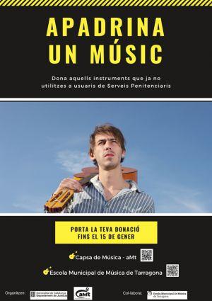 """El Departament de Justícia i l'Associació de Músics de Tarragona engeguen la 2a edició de la campanya solidària """"Apadrina un músic"""""""